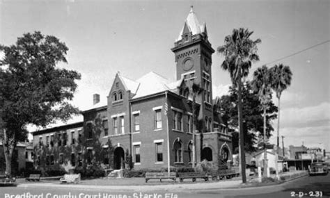 Bradford County Court Records Florida Memory Bradford County Courthouse