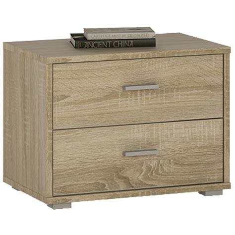 Low 2 Drawer Dresser 4 You 2 Drawer Low Chest Bedside In Sonama Oak
