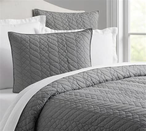Gray Quilt Bedding by Brie Quilt Sham Pottery Barn