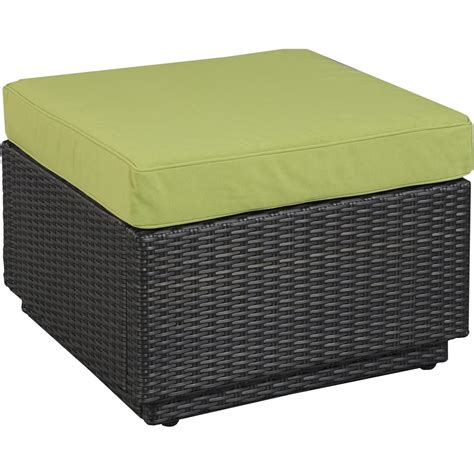 resin ottoman home styles riviera resin wicker patio ottoman green