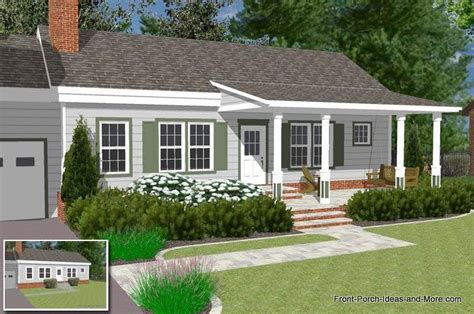 front porch plans free basic ranch home front porch home ideas