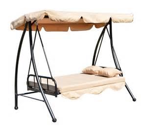 balancelle balancoire fauteuil lit de jardin convertible en acier 2 places charge max 360kg