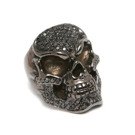 black pave skull ring world s best