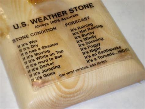 weather stone funny novelty gag birthday gift weather