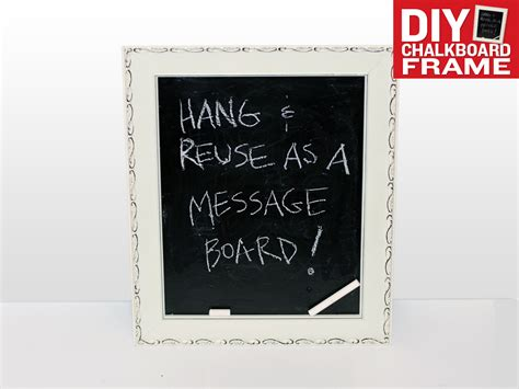 diy chalkboard message board diy chalkboard frame and message board today