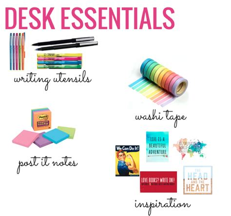 desk essentials for college desk organization high edition the post it