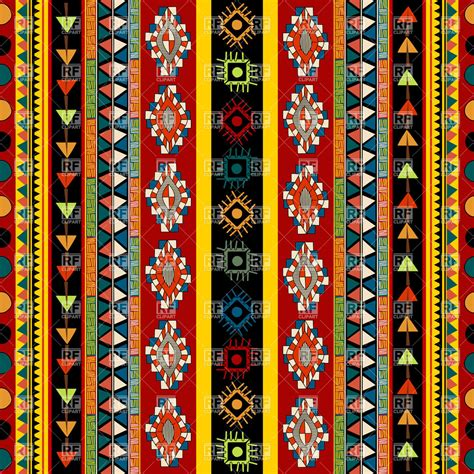 ethnic pattern art striped ethnic pattern seamless mexican ornament 31804