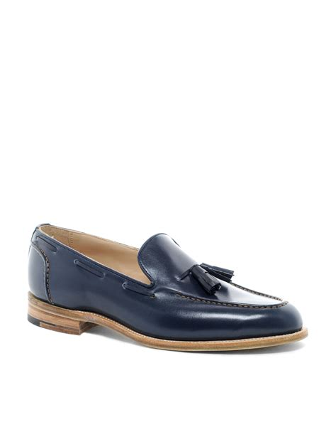 trickers loafers tricker s chelsea tassel loafers in blue for lyst