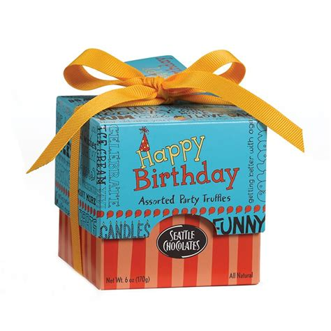 happy birthday chocolate truffle gift box
