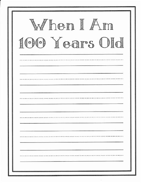 100th day writing paper 159 best images about teaching 100th day of school on