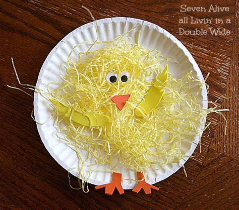 Paper Plate Chicken Craft - easter paper plate craft munchkins and