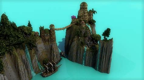 minecraft boat bridge elvish outpost arien helyanw 235 minecraft building inc