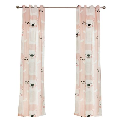 cute bedroom curtains pink bear patterned cute bedroom curtains for kids