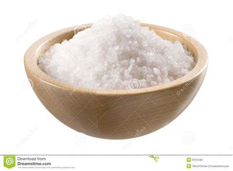 Bowl Salt L by Sea Salt In A Wooden Bowl Stock Photo Image 9751440