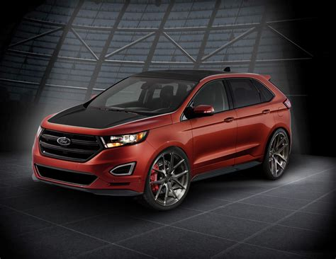 ford edge rs webasto ford edge at sema with custom wheels and more