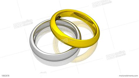 Wedding Rings Animation by Wedding Rings Yellow And White Gold Animation Stock