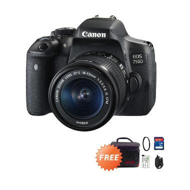Filter Kamera Dslr Canon jual canon eos 750d lens kit 18 55mm is stm kamera dslr 24mp wifi free baterai kamera lp e8