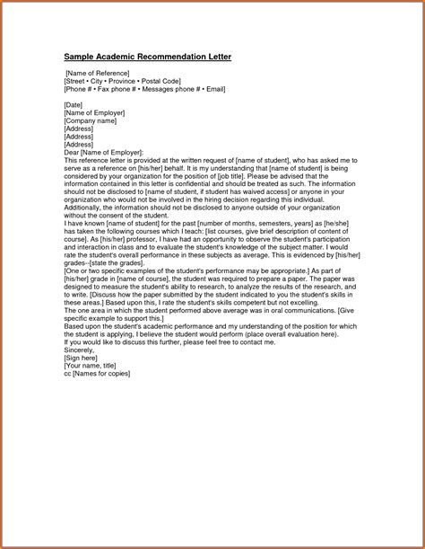 reference letter format 2 5 sles of recommendation letters for graduate school 1763