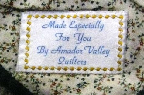Machine Embroidery Quilt Labels by How To Make Quilt Labels Everyone Will Quilter S Diary