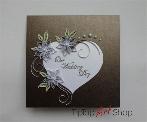 Handmade Paper Wedding Cards - 17 best images about quilling on flowers for