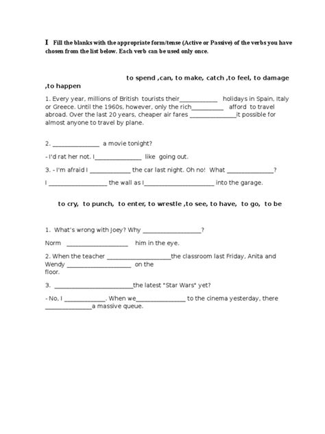 verb patterns engleski jezik test za opstinsko takmicenje engleski jezik