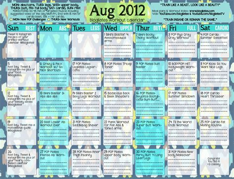 Monthly Workout Calendar Monthly Workout Calendar Your Arms Will Be Bangin After