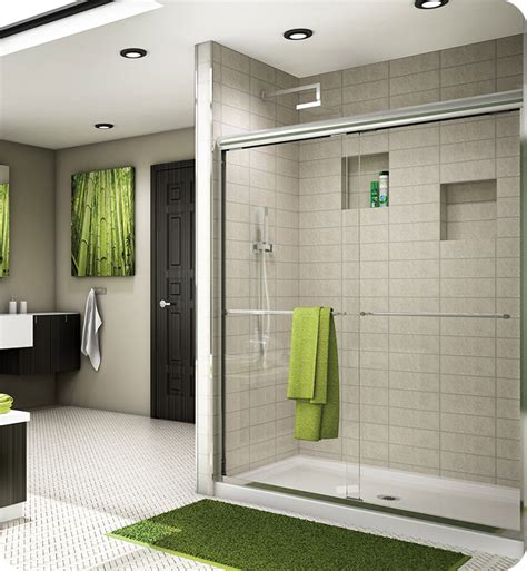 Banyo Shower Doors Fleurco Es10 Banyo Cordoba Semi Frameless In Line Sliding Shower Doors