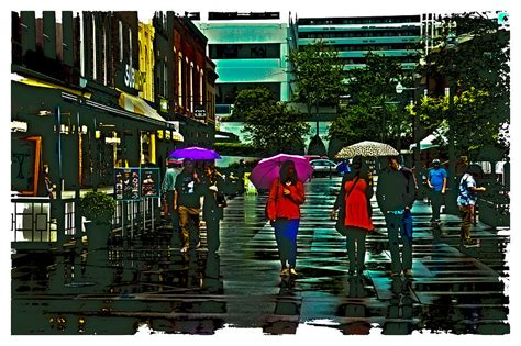 shopping in the rain knoxville photograph by david patterson