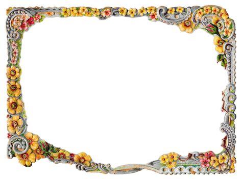 design frame html antique images printable flower frame digital crafting