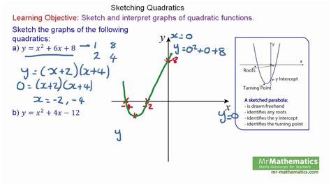 Drawing Quadratic Graphs by How To Sketch Quadratic Graphs For Gcse Mathematics