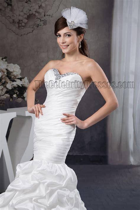 strapless beaded mermaid wedding dress trumpet mermaid strapless sweetheart beaded ruffles