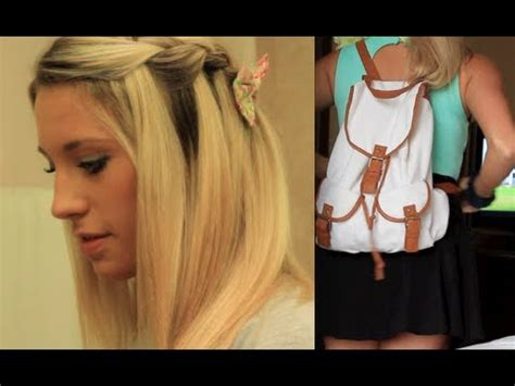 hairstyles and makeup for school first day of school hair makeup outfit youtube