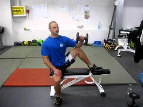 external rotation on bench seated external rotation exercise