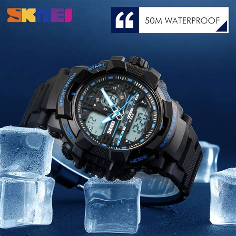 Skmei Jam Tangan Analog Pria 9149cl Black Blue New Sale skmei jam tangan analog digital pria ad1164 black blue jakartanotebook
