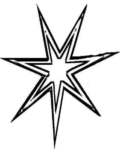 coloring page of the north star christmas star coloring page az coloring pages