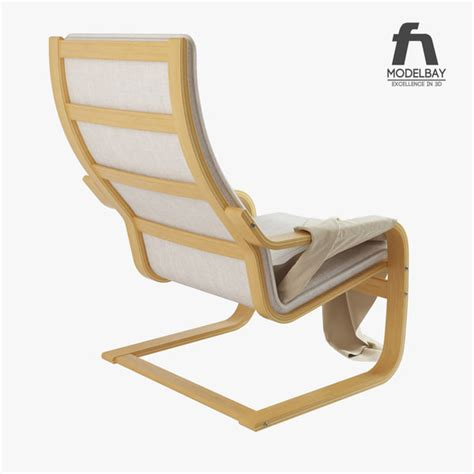 Poäng Chair by 3d Model Poang Chair