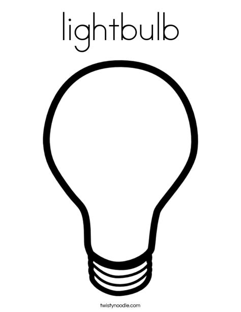 lights coloring pages lightbulb coloring page twisty noodle