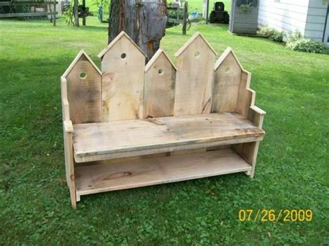 birdhouse bench birdhouse bench made from barn wood pallets