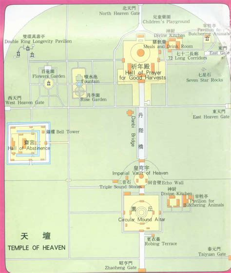 map of temple of heaven