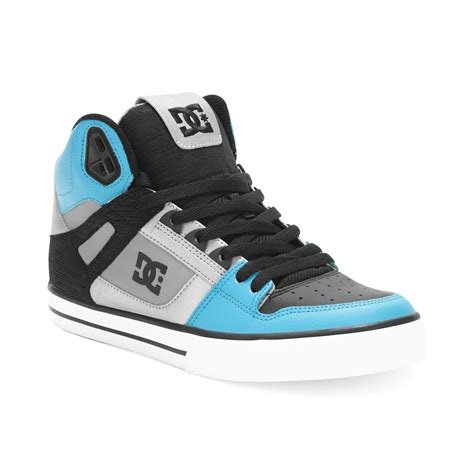 Dc Sneakers lyst dc shoes spartan high wc sneakers in blue for