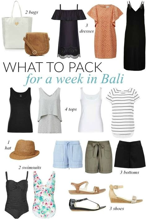 wardrobe oxygen what to pack for vacation what to pack for a week in bali sonia styling croatia