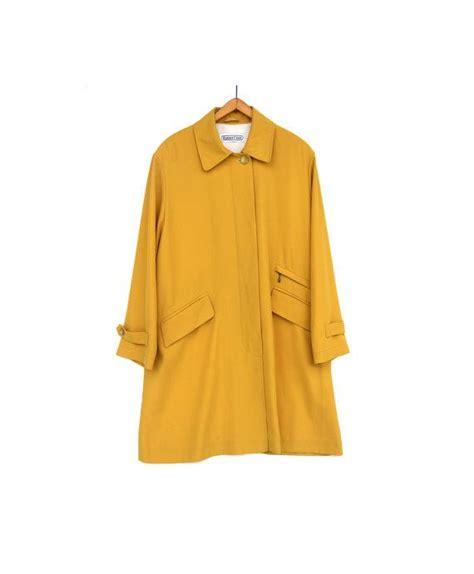 spring swing coat vintage fall coat autumn spring yellow raincoat