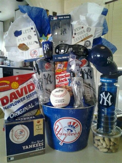 birthday themed raffle basket something im currently working on ny yankees raffle
