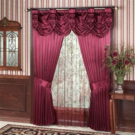 swag window curtains swag valance window treatment