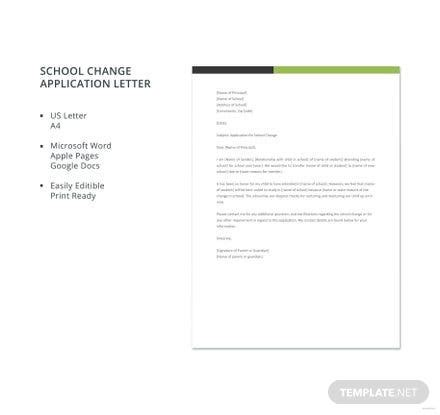 letter application templates ready