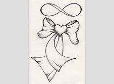 30+ Ribbon Tattoo Designs Easy Drawings Of Hearts With Ribbons