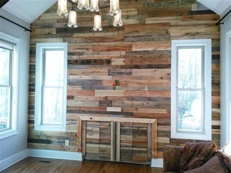 Interior Wood Siding Walls by Pallet Wall For Living Room