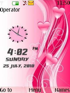 6300 themes love clock download love dual clock theme nokia theme mobile toones