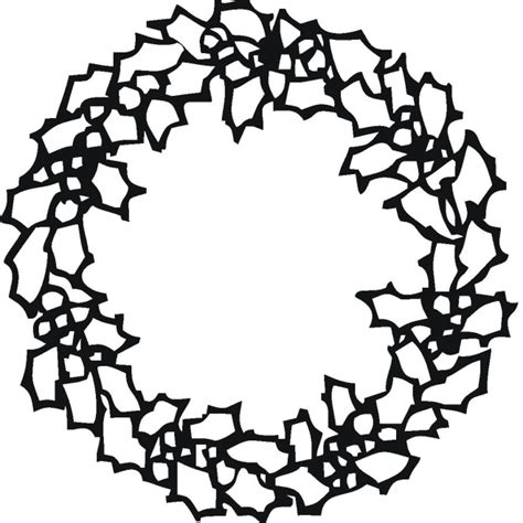 Free Coloring Pages Of A Christmas Wreath Wreaths Coloring Pages