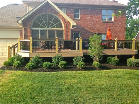 Landscape Ideas Around Deck New Landscaping Around New Deck Traditional Exterior